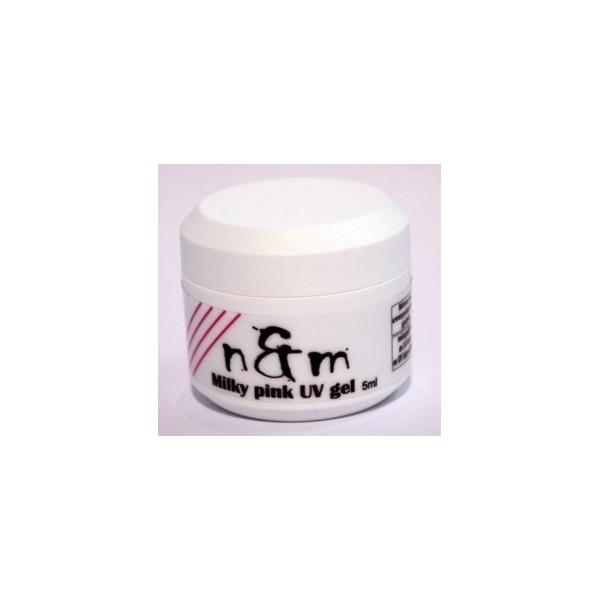 Milky pink UV gel pink result , perfect french pink result Medium viscosity 5ml