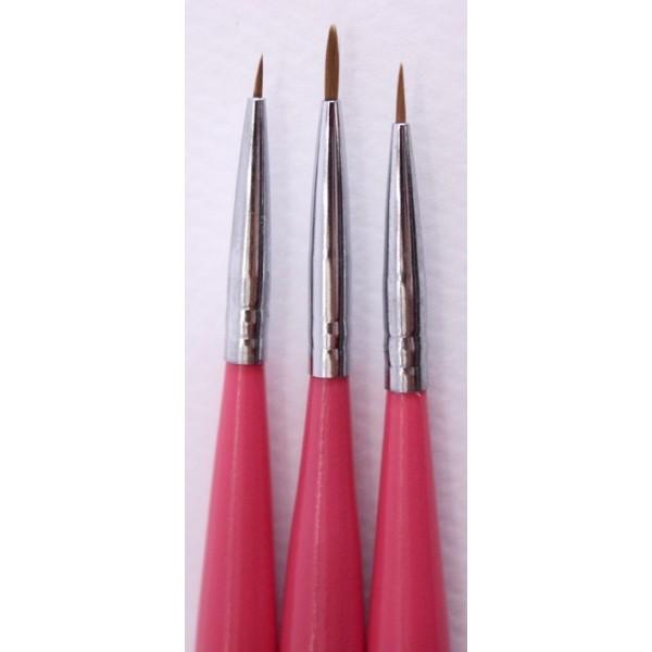 ΣΕΤ 3 ΠΙΝΕΛΩΝ nail art