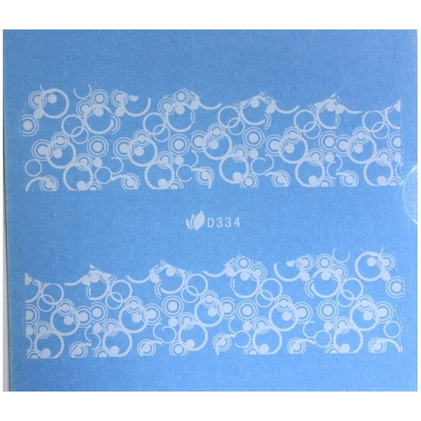 Water nail sticker White
