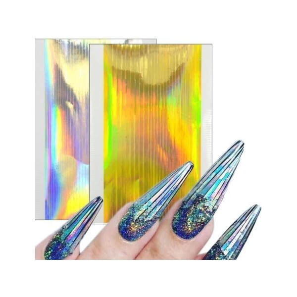 Laser nail sticker
